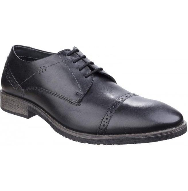 702fb65bd08 Hush Puppies Hush Puppies Mens Craig Luganda Black Leather Formal Shoes