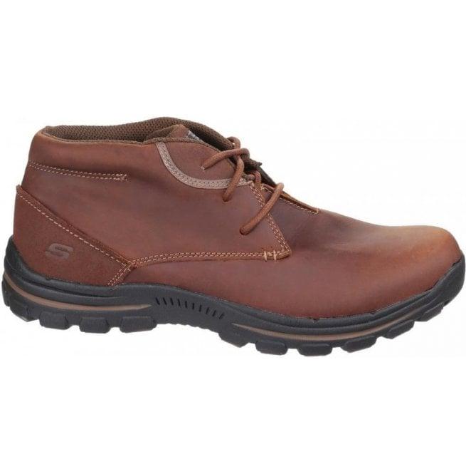 d562639e73110 Skechers Mens Dark Brown Braver Horatio Lace up Boots SK64864
