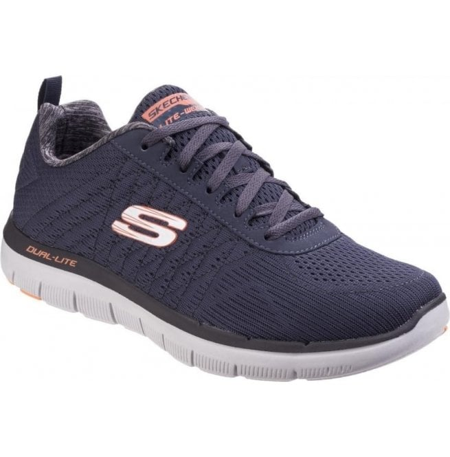 on sale f6000 677d5 Mens Dark Navy Flex Advantage - 2.0 The Happs Lace Up Trainers SK52185