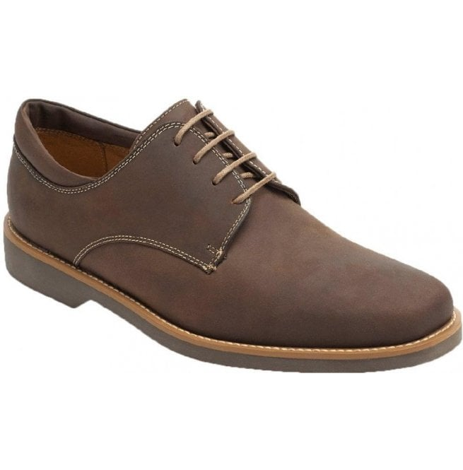 f88dd3e41ce Mens Delta Mustang Tobacco Leather Derby Shoes
