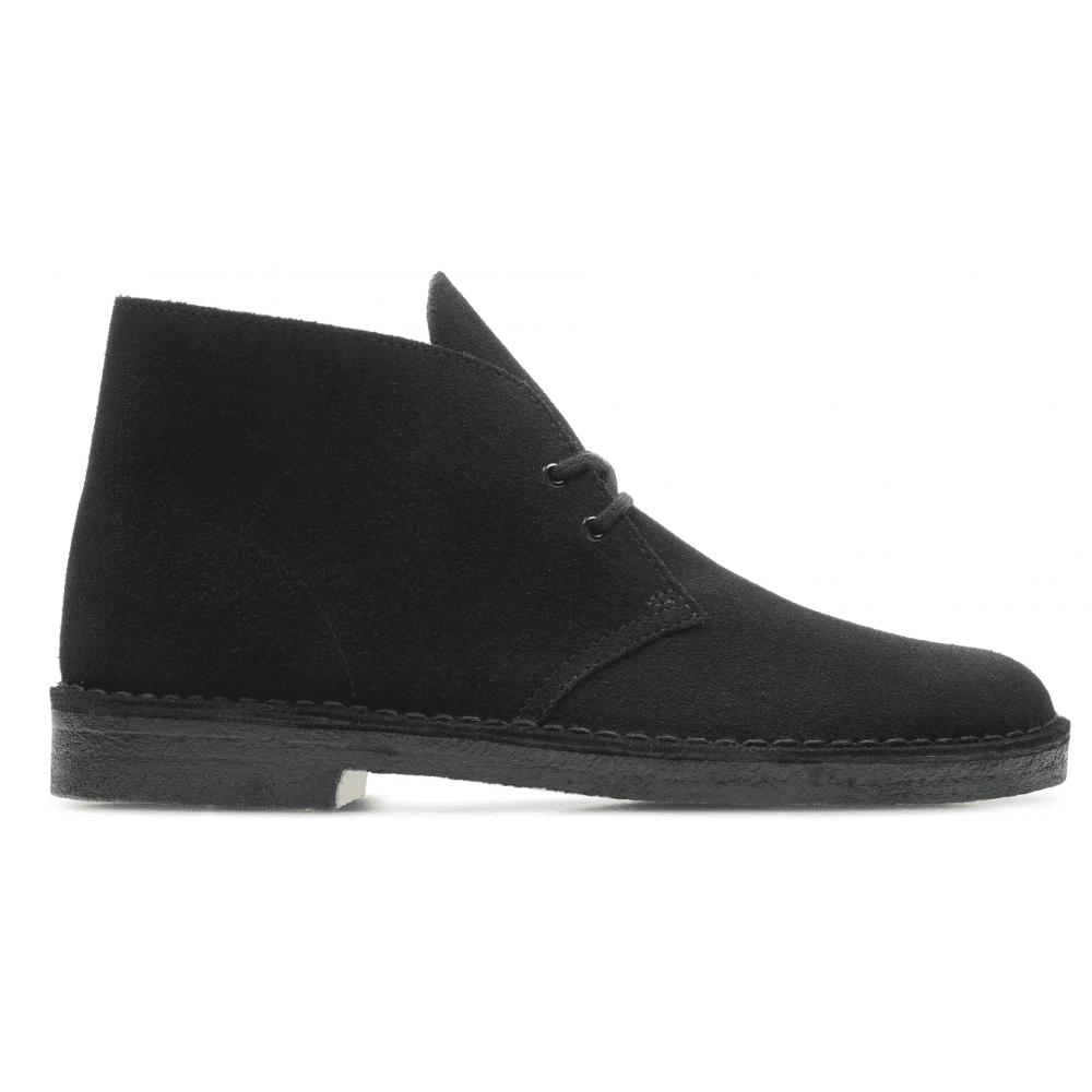 b9e057edbcc8a Clarks Originals Clarks Originals Mens Desert Boots Black Suede Lace-Up Ankle  Boots 26138227