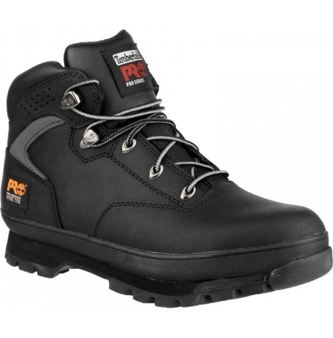 Timberland Men's Slip On Lace Up Euro Hiker Boots Black