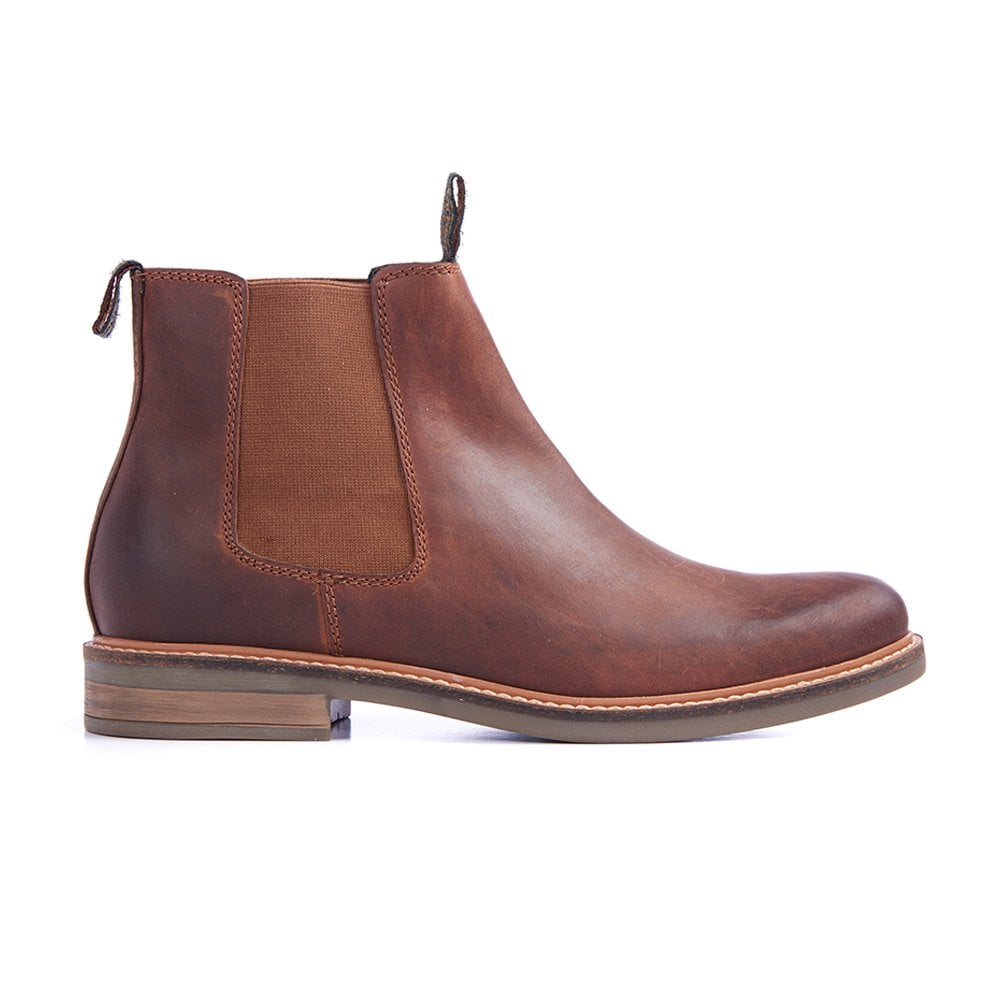 Barbour Farsley Dark Tan Leather Ankle