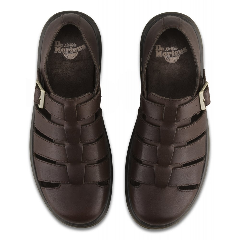 a13cfdc7b76 Mens Fenton Dark Brown Westfield Buckle Fisherman Shoes 24409201