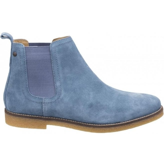 Base London Mens Ferdinand Blue Suede Chelsea Boots