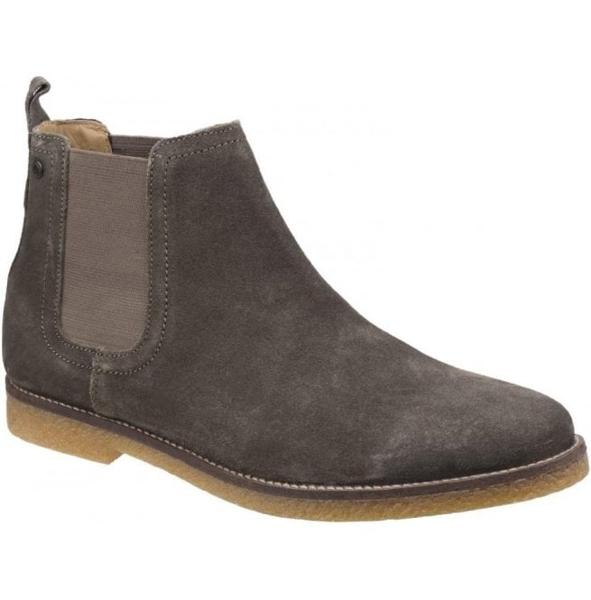 Base London Mens Ferdinand Olive Suede Chelsea Boots