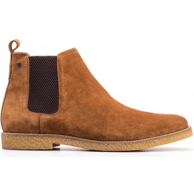 738702e2852d Base London Mens Ferdinand Tan Suede Chelsea Boots