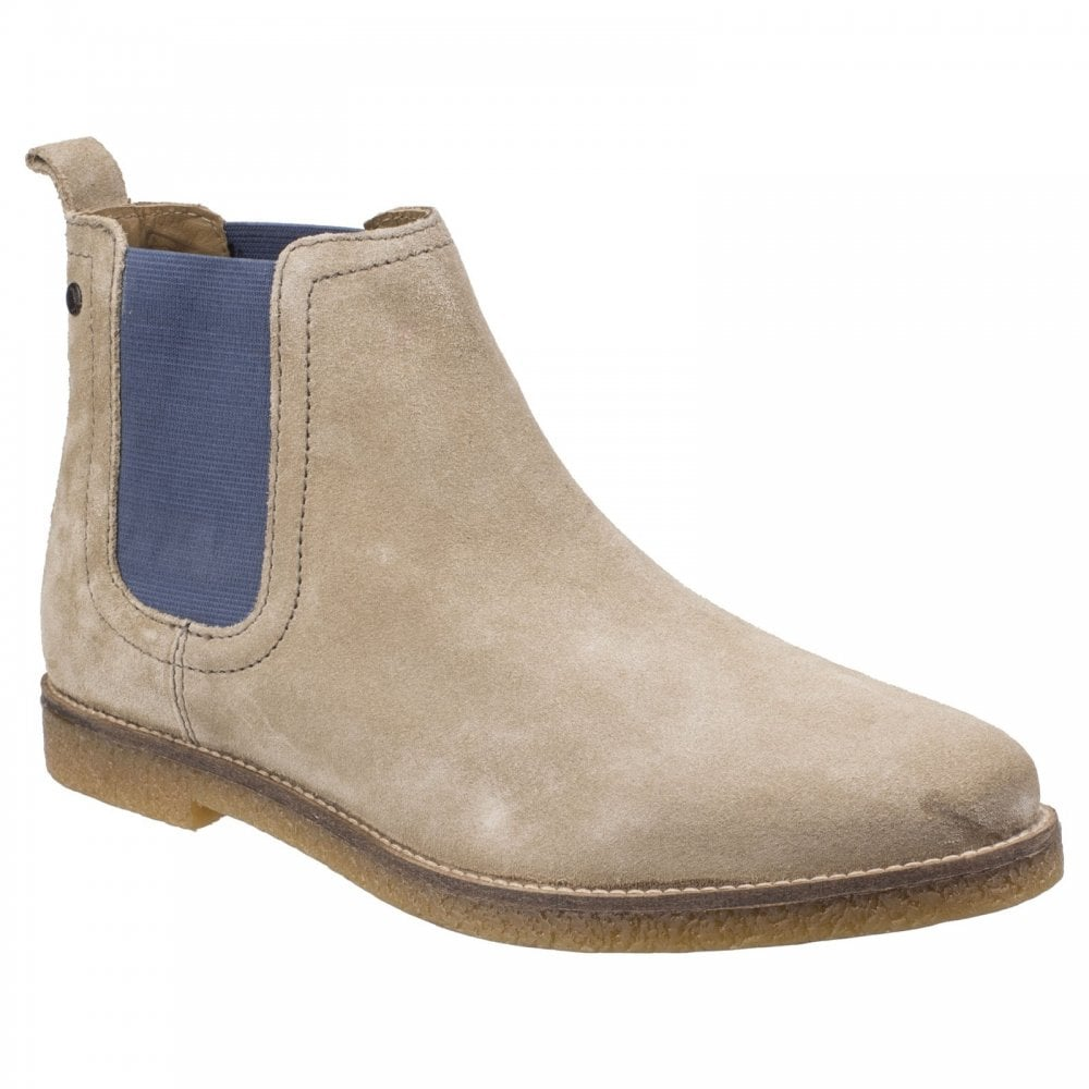 info for a627c 2ee31 Base London Mens Ferdinand Taupe Pop Suede Leather Ankle Boots
