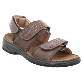 Mens Firenze 01 Moro Velcro Strap Sandals 53612 150 330 New In · Josef  Seibel ... fb62332b45