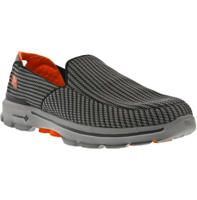 Skechers Mens Go Walk 3 Charcoal/Orange