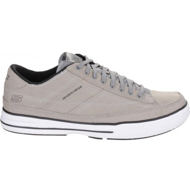 Skechers Mens Grey Arcade Chat Memory Lace Up Trainers SK15014