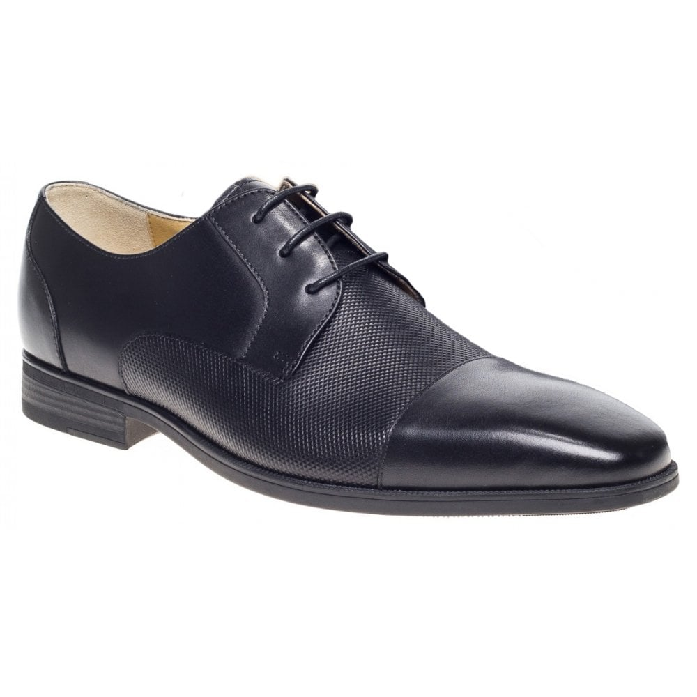 e25205f3e8a Mens Hitchin Black Formal Lace Up Gibson Shoes