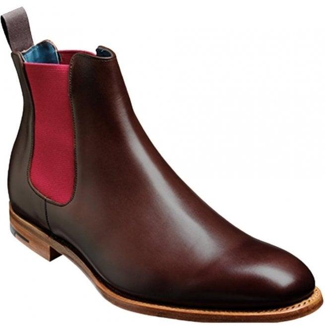 a759f4b4be4 Barker Mens Hopper Walnut Calf/Burgundy Elastic Chelsea Boots