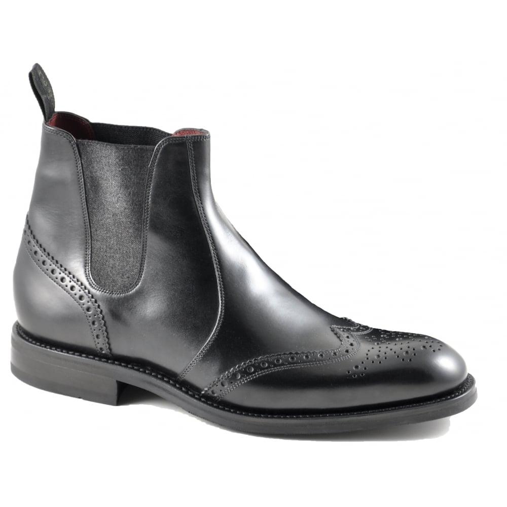 Loake Hoskins Black Leather Brogue