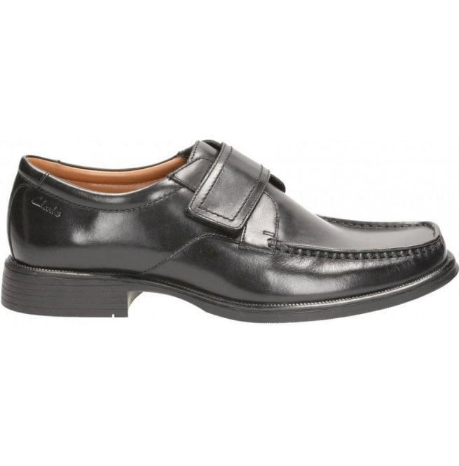 Clarks Huckley Roll Black Leather