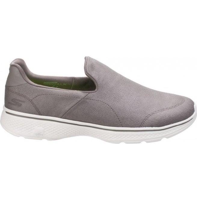 Skechers Mens Khaki Go Walk 4 Remarkable Slip On Walking Shoes SK54154