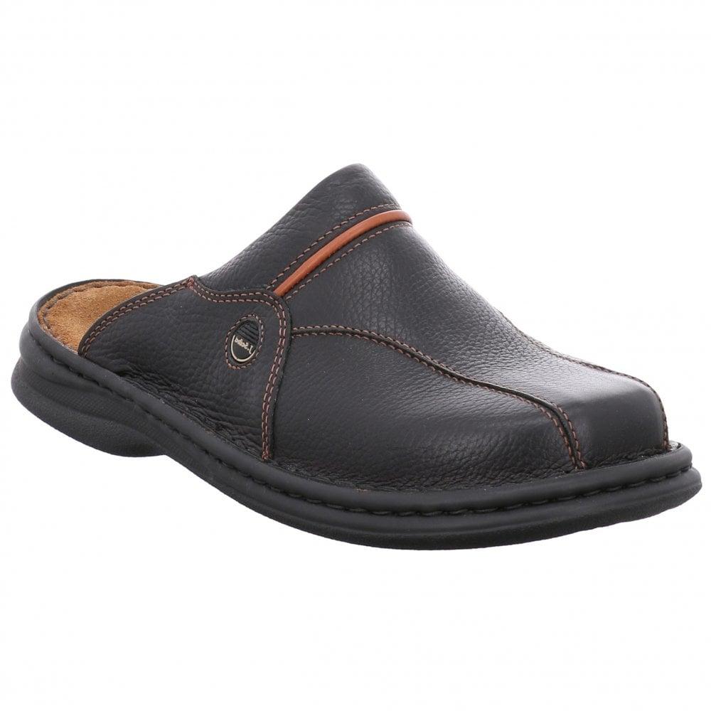 Josef Seibel Klaus Black/Cognac Leather Mules 10999 26 611 | Official  Stockist | Marshall Shoes Est 1895