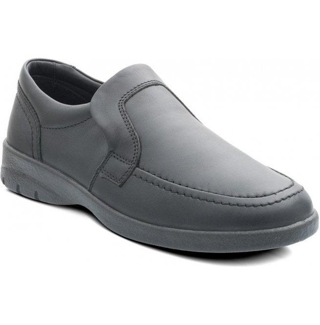 5b4b605ac85fb Padders Padders Mens Leo Black Leather Slip On Shoes