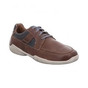 Mens Linus 01 Brazil-Combi Leather Lace Up Trainer Shoes 24301 950 311. Josef  Seibel ... 1bf4d0ff77