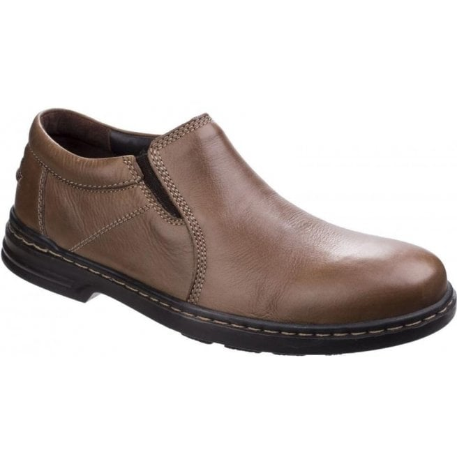 59083439a9e Hush Puppies Mens Milton Hanston Brown Formal Slip on Shoes