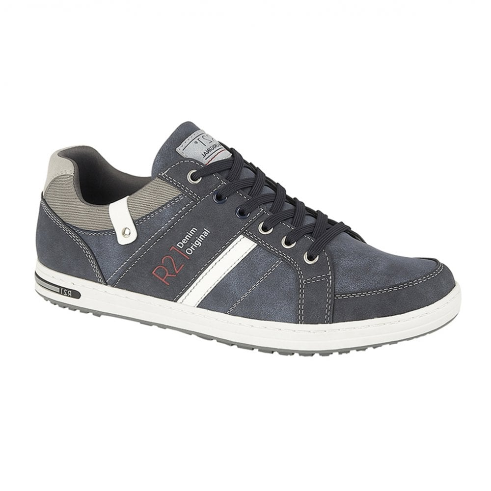 Route 21 Navy 6 Eye Lace Up Casual