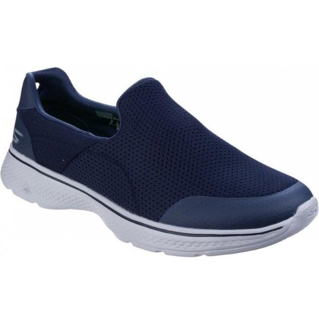 3c657171170f Mens Navy Grey Go Walk 4 - Incredible Slip On Walking Shoes SK54152