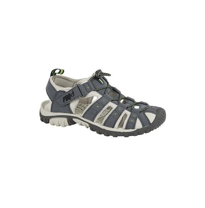 00f610e15ce PDQ PDQ Mens Navy Lime Velcro Touch Fastening Sandals M040C