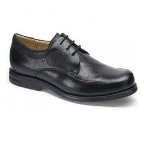 Clarks Mens Keeler Walk Black Leather Lace Up Shoes 26110305