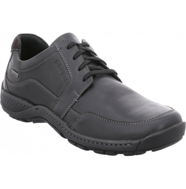 Josef Seibel Josef Seibel Mens Nolan 46 Black Waterproof Lace Up Shoes 17564  JE138 100 1ade8c1293