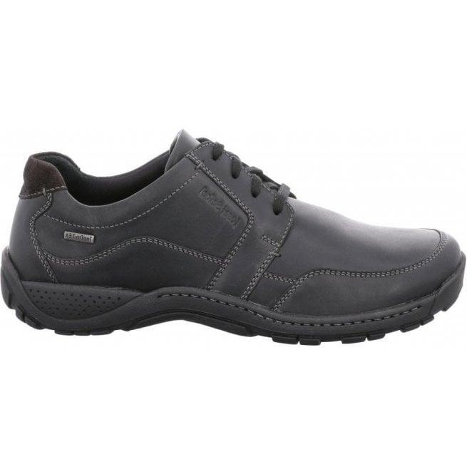 Josef Seibel Mens Nolan 46 Black Waterproof Lace Up Shoes 17564 ... 400a72cc76