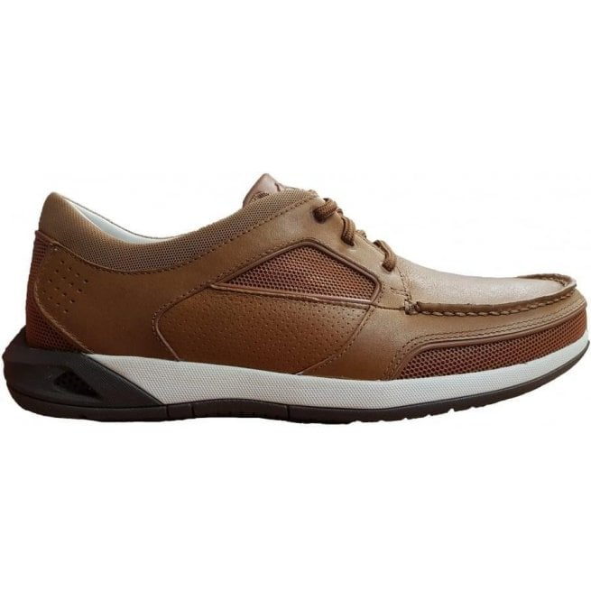Clarks Clarks Mens Ormand Sail Light Brown Leather Casual Trainer Shoes 503a84a7b