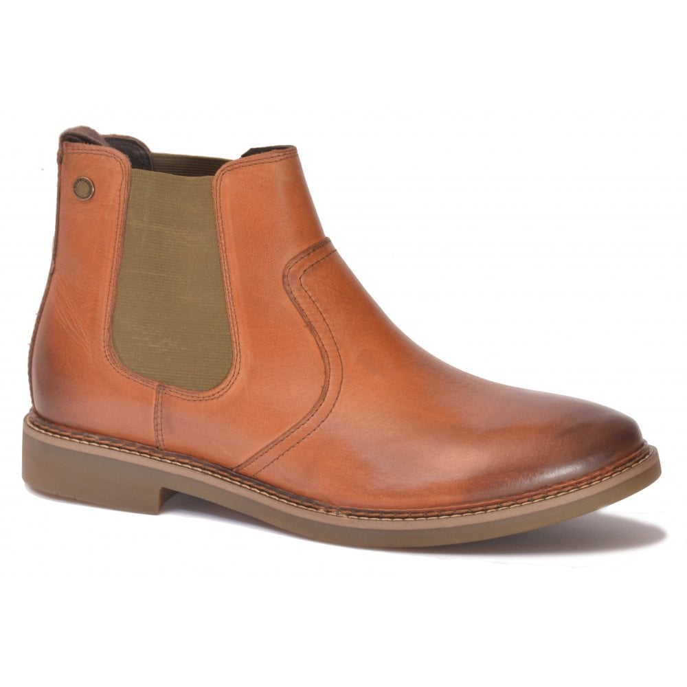 reasonably priced up-to-date styling for sale Mens Piper Tan Waxy Leather Pull-On Ankle Boots