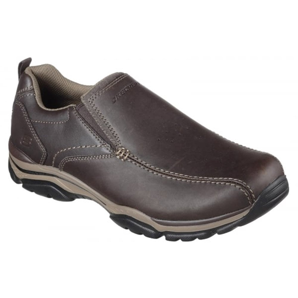 Skechers Mens Relaxed Fit  Rovato - Venten Slip On Leather Trainers ... aa15629d9