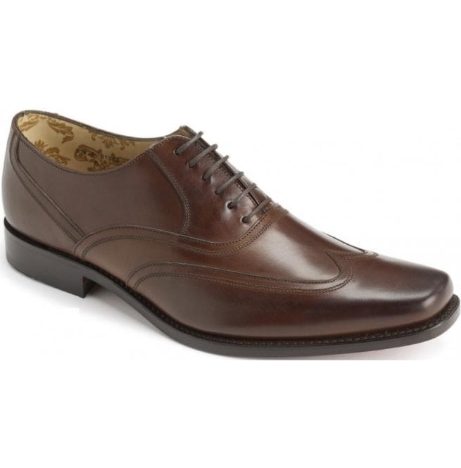 aa23d6103d12 Loake Snipes Brown Wide Fitting Shoes - Marshall Shoes