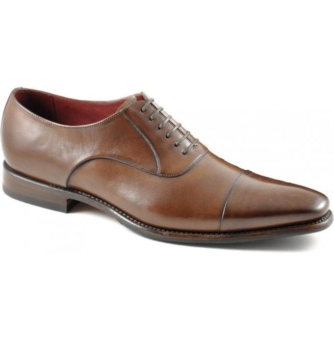Mens Snyder Dark Brown Leather Oxford Lace Up Formal Shoes