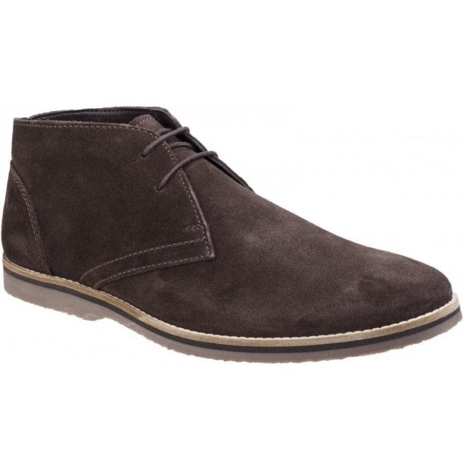 d74c2dae924 Hush Puppies Mens Spencer Brown Suede Chukka Boots