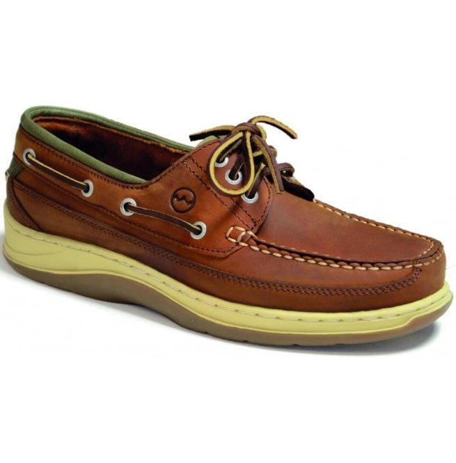 792a29943ff46 Orca Bay Orca Bay Mens Squamish Sand/Olive Leather Sports Deck Shoes