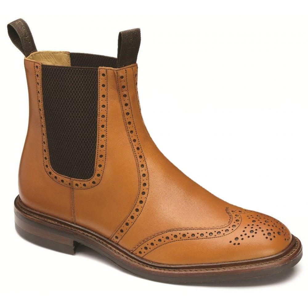 newest 3da45 792fb Mens Thirsk Tan Twin Gusset Brogue Dealer Boots