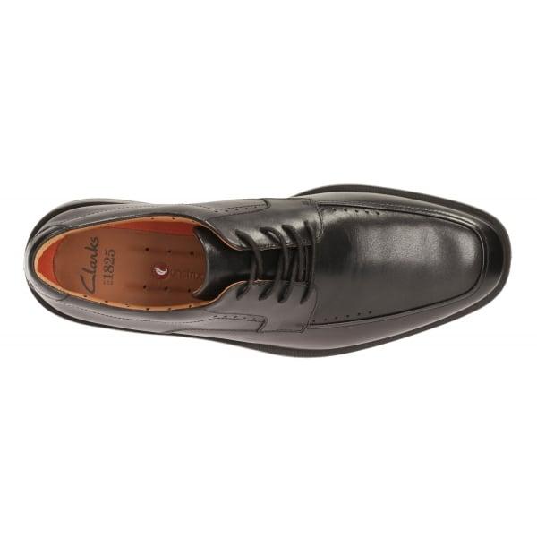 Men/'s Clarks Unstructured Unbizley View Lace Shoe Black 26115148