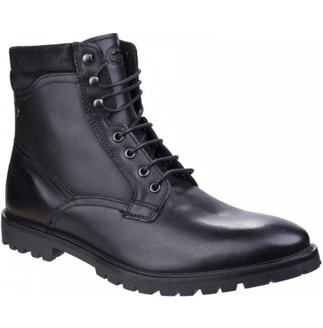 9e264bcb257 Base London Mens York Washed Black Biker Boots