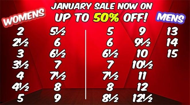 January Sale Sizes