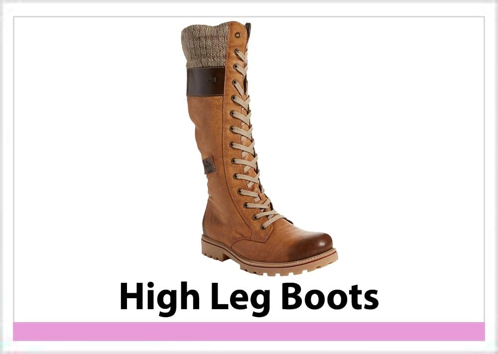 Womens High Leg Boots