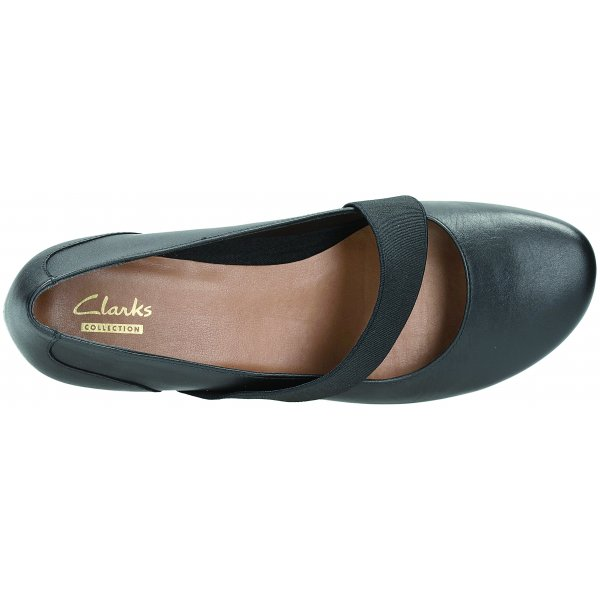 Discovery Ritz Black Leather Shoes Clarks