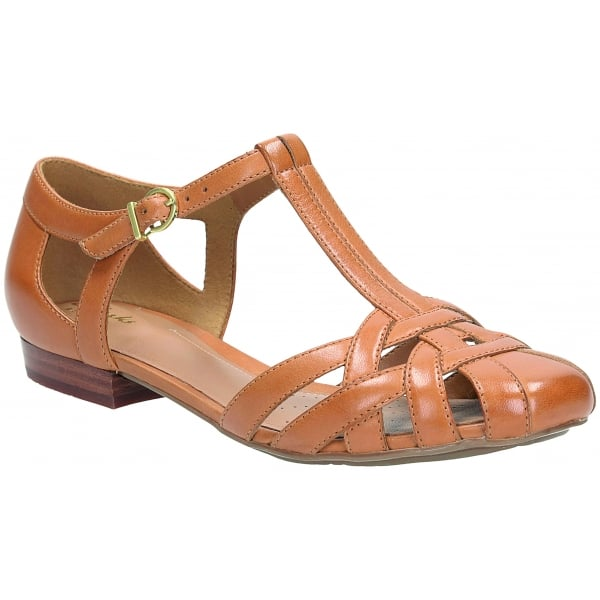 Clarks Ladies Henderson Luck Tan Leather Shoes At Marshall