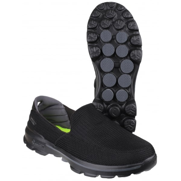 skechers black walking shoes. skechers mens go walk 3 black walking shoe 53980 shoes