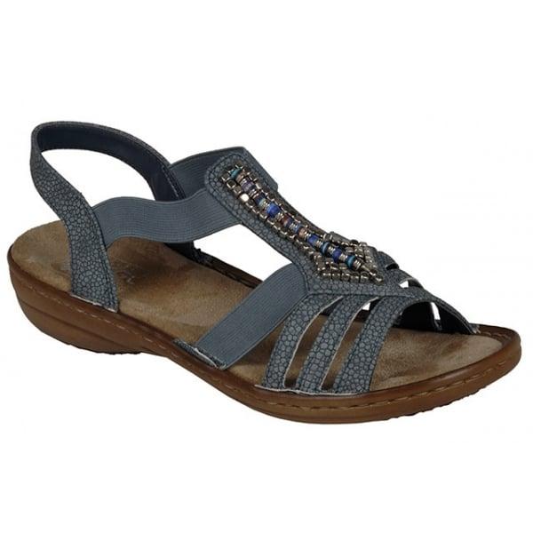 Womens 608s1 Closed Toe Sandals, Grey, 3.5 UK Rieker