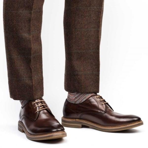Base London Mens Blake Brown Leather Shoes 45 EU cJcv1APNr