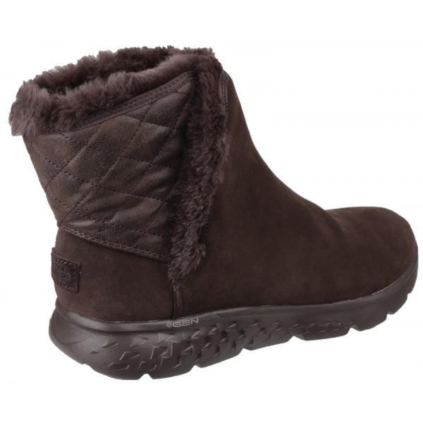 Skechers Womens Chocolate On The Go 400 Cozies Pull On