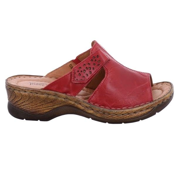 ... Josef Seibel Womens Catalonia 32 Red Velcro Mules 56496 88 400 ...
