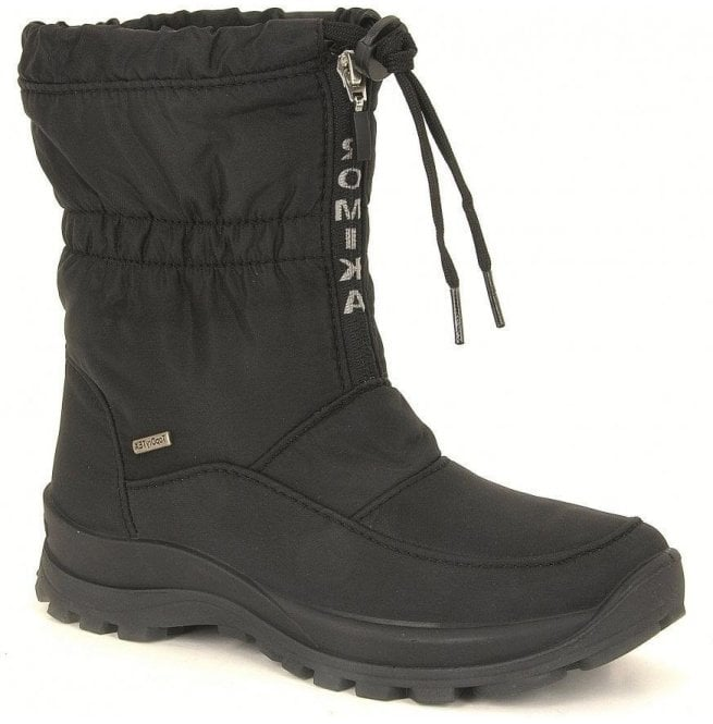 Romika Womens Alaska 118 Black Waterproof Zip Boots